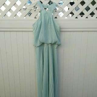 Floor Length Mint Dress