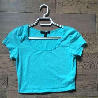 Baby Blue T-Shirt Crop Top