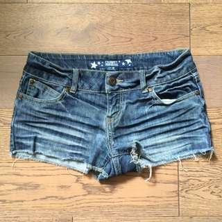 Denim Cut Off Short Shorts