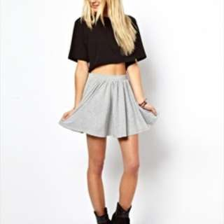 Grey Skater Skirt