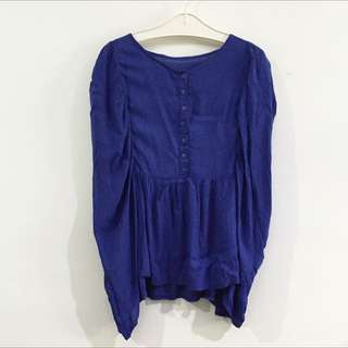 3for100k / Electric Blue Blouse