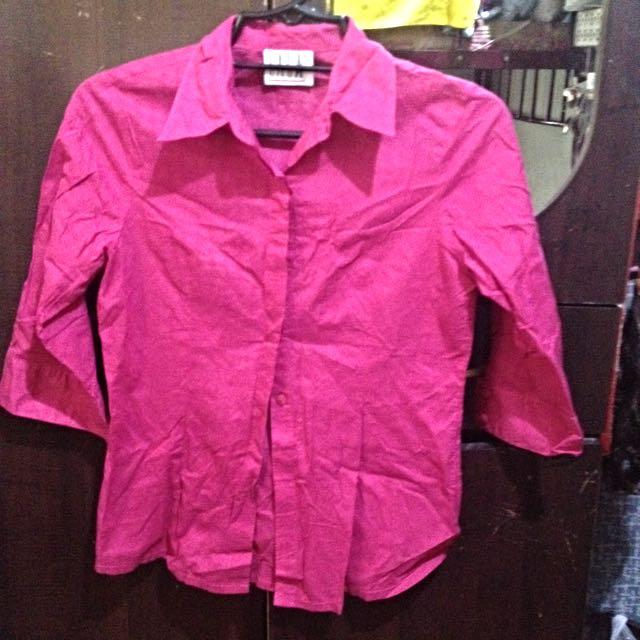 3/4 Pink Top