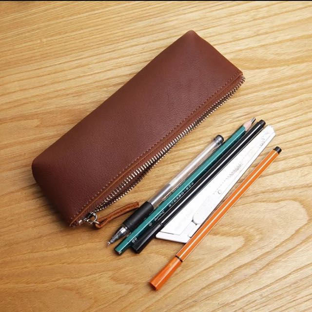 簡約牛皮筆袋/小工具包