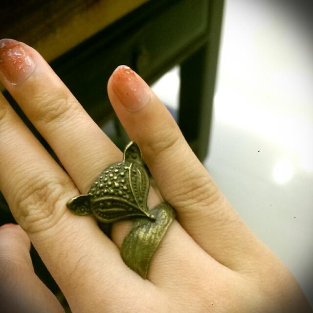 全新 古銅復古戒指