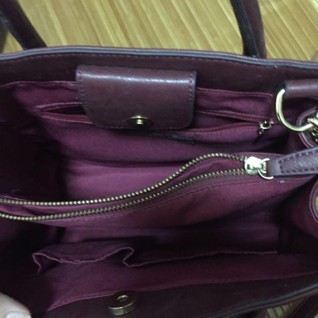 東京企劃 (酒紅色) 手提包降價降價🎉🎉