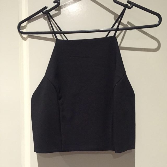 Black Boutique Crop Top