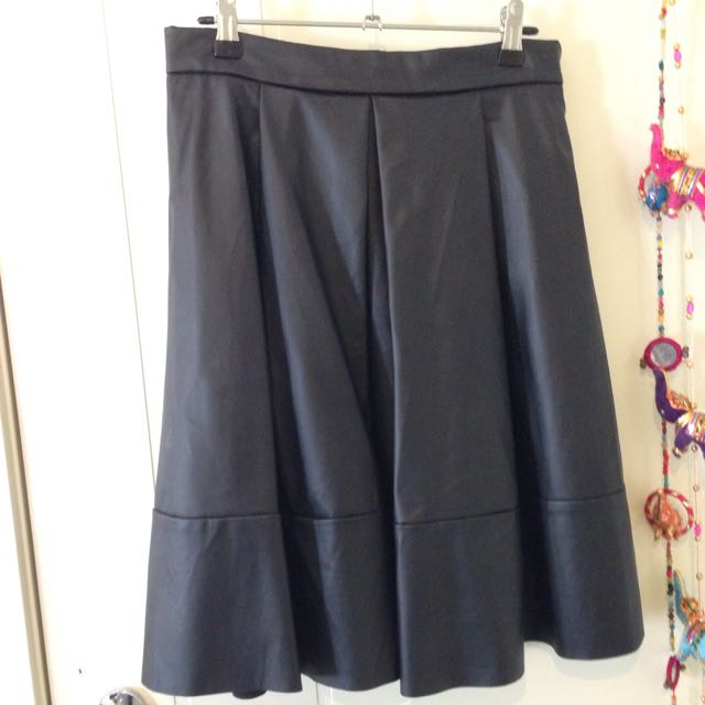Black PU Skirt, Size 12