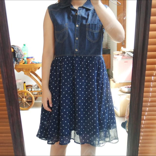 Blue Denim Dress (disc50%=40.000)