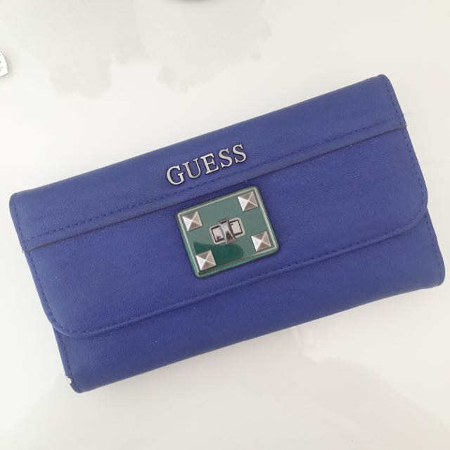 Blue Studded GUESS wallet