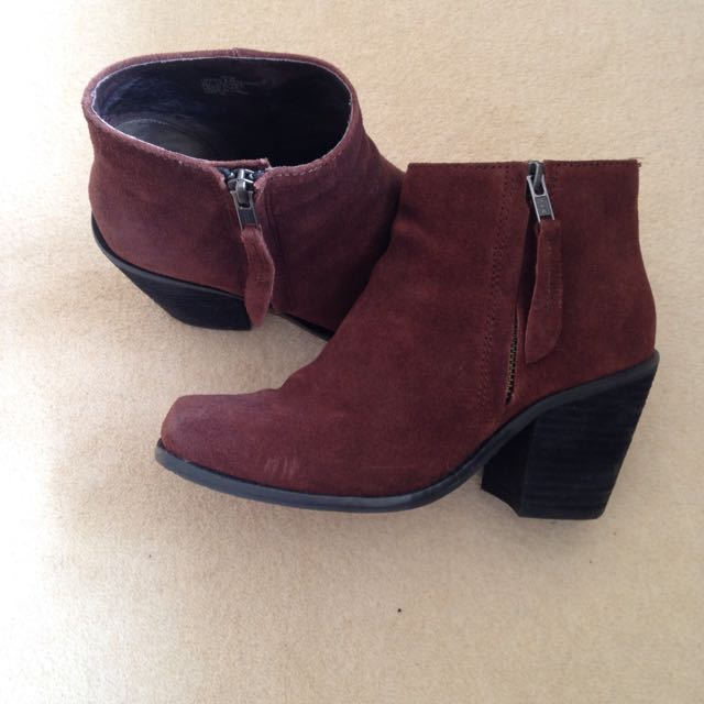 Brown/ Red Boots From Witness