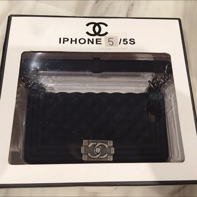 Chanel inspired IPhone 5 / 5S Cover Casing with Shoulder Chain Strap