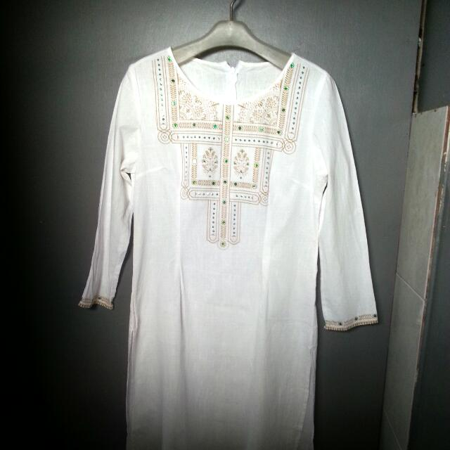 Chanira Festive Collections White Tunic