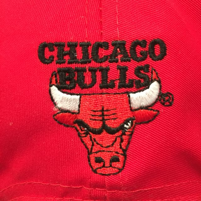 Chicago Bulls Logo Snap Back Hat Red new