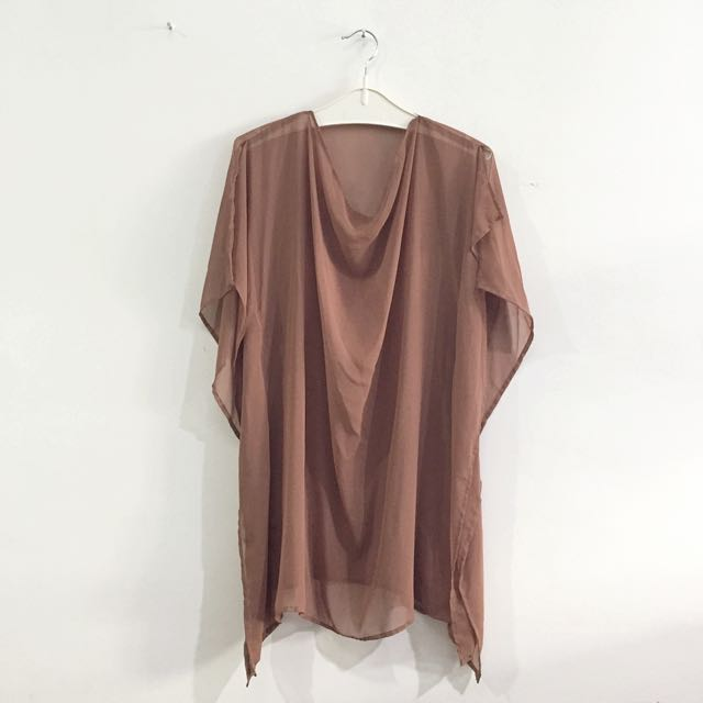 3for100k / Coffee Chiffon Blouse