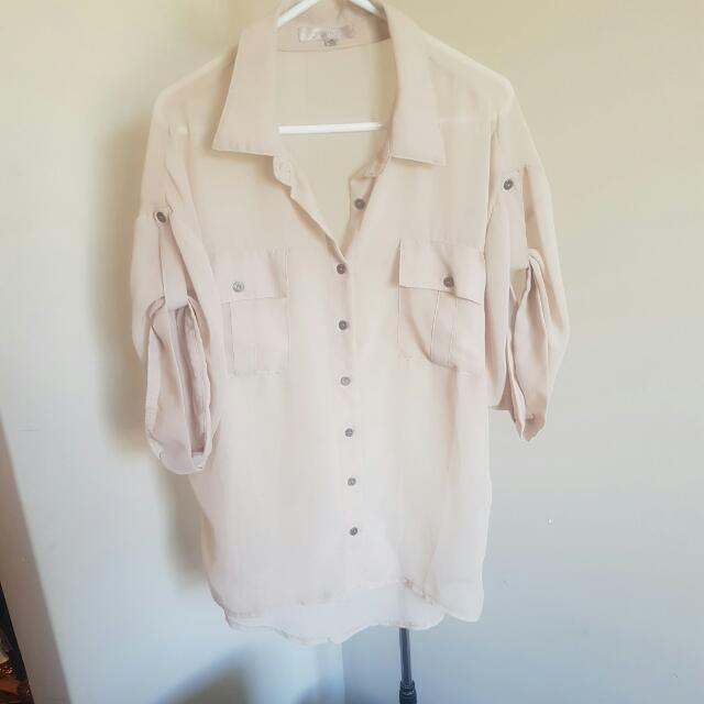 Cream Temp Blouse
