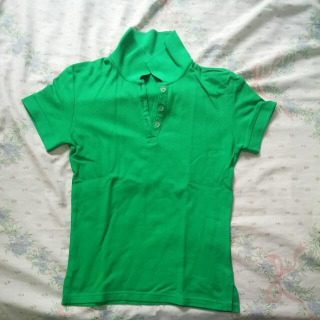 Green Collared Shirt