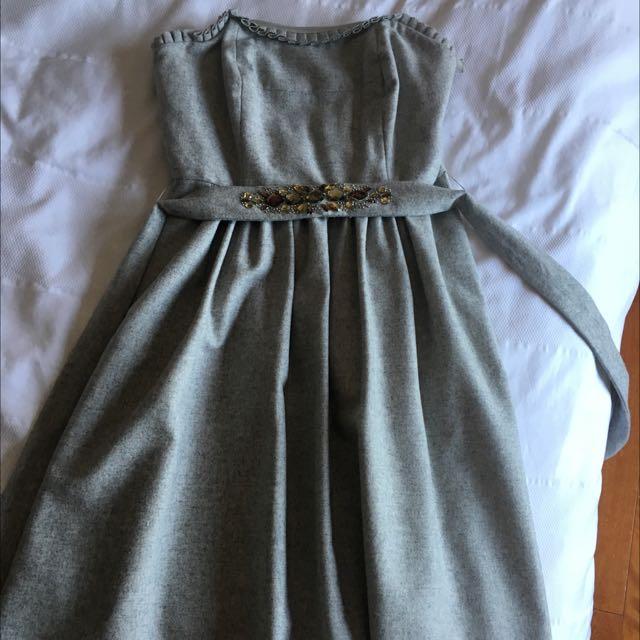 Grey Short Tube Dress