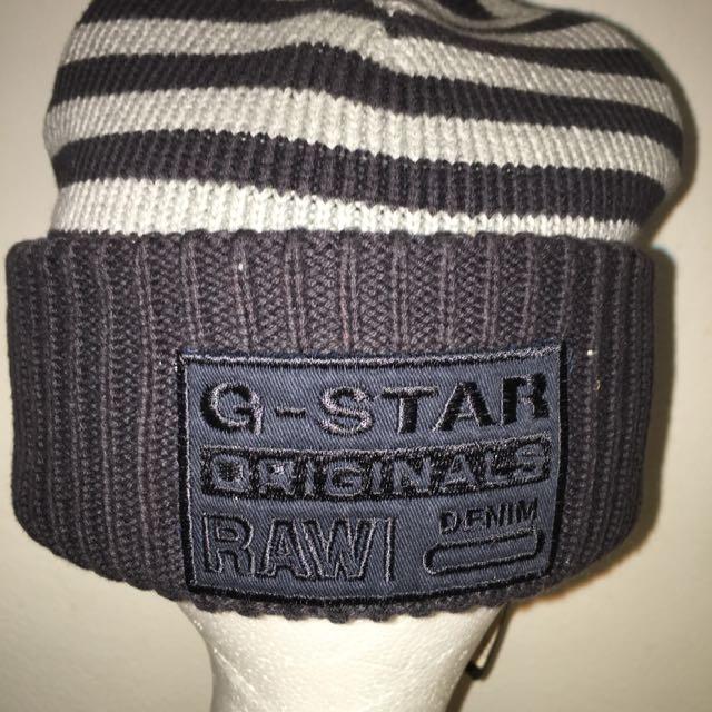 Gstar beanie Navy Grey Nice & thick Brand new