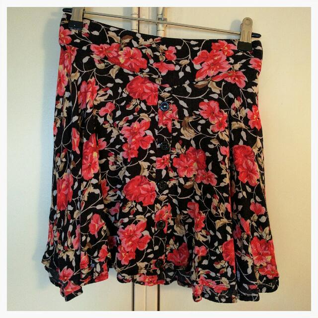Mink Pink Floral Skirt - Size L