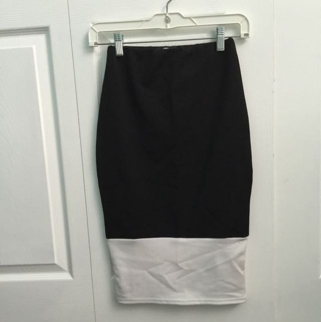 Missguided Tight Black And White Skirt