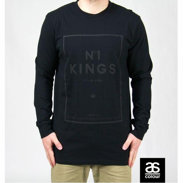 No1 KINGS black on black long sleeve