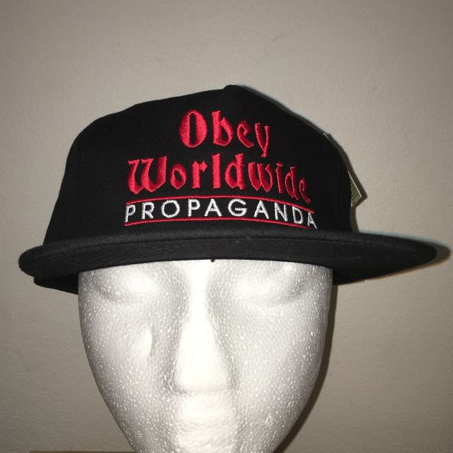 Obey propaganda worldwide Cap Hat  Black Brand new