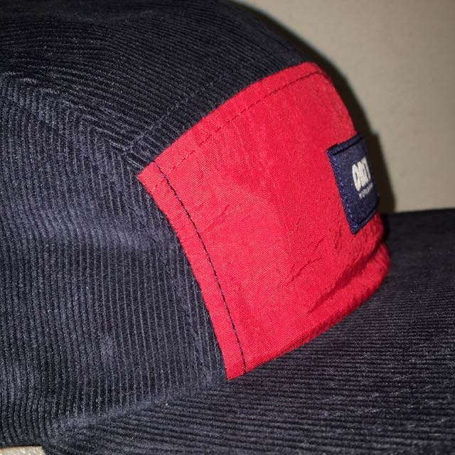 Obey worldwide corduroy Cap Hat Navy / red Brand new