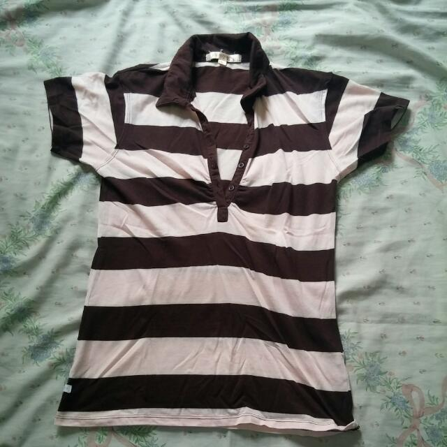 Pink And Brown Top From Penshoppe