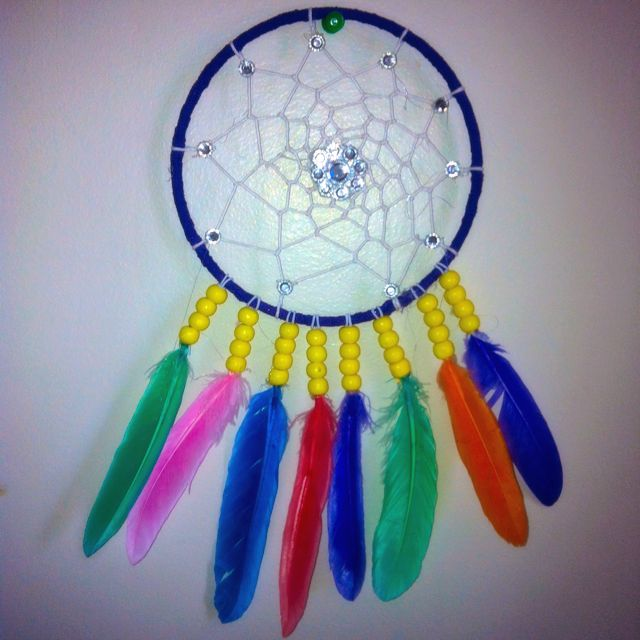 Rainbow Feather Dream Catcher
