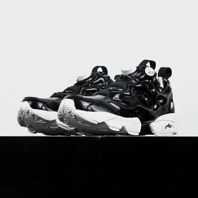 【限量正品】Reebok Insta Pump Fury OG 女鞋 黑色漆皮 AR1635 充氣慢跑鞋 潮鞋新款