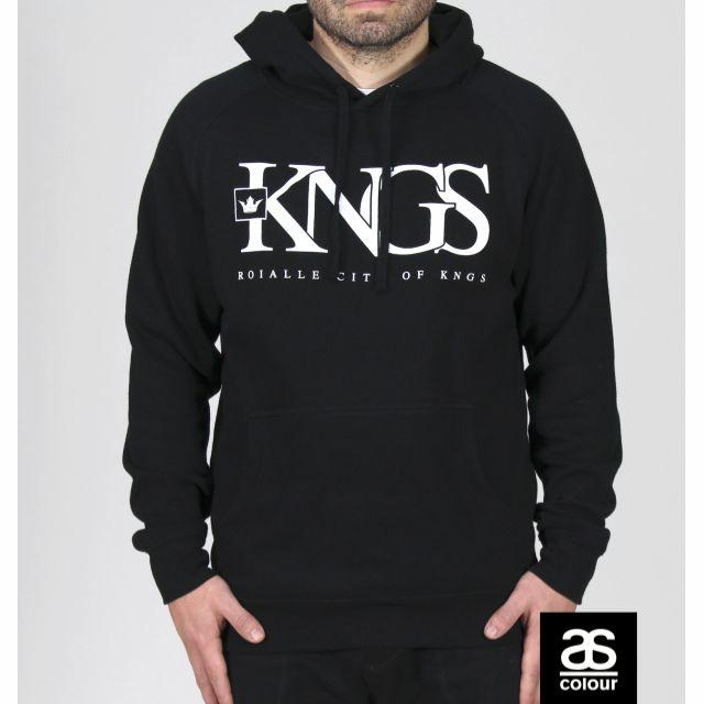 """ON SALE! Roialle """"KNGS 1OF1"""" black hoodie."""