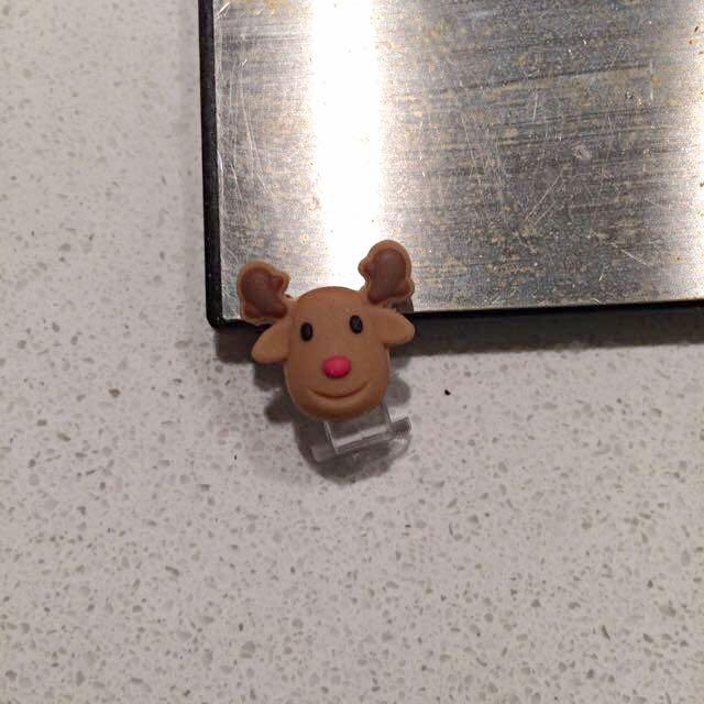 Rudolf Iphone Button Decoration