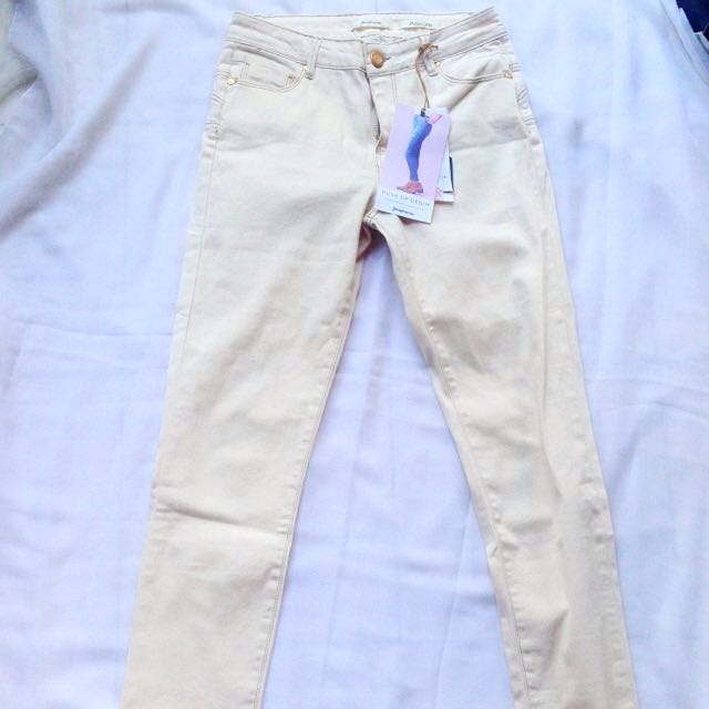 STRADIVARIUS PANTS CREAM ORIGINAL