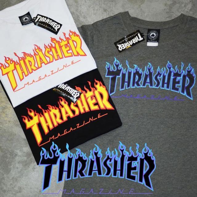 THRASHER 火焰T 全新