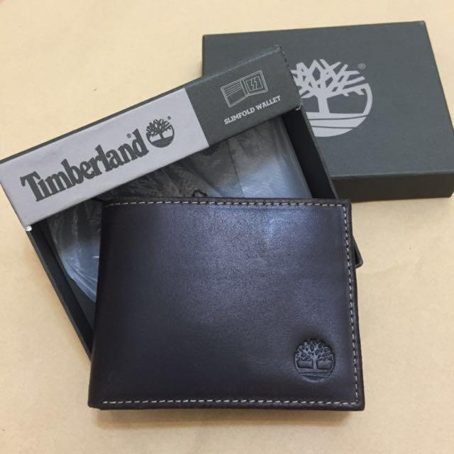 Timberland 真皮皮夾 簡單款