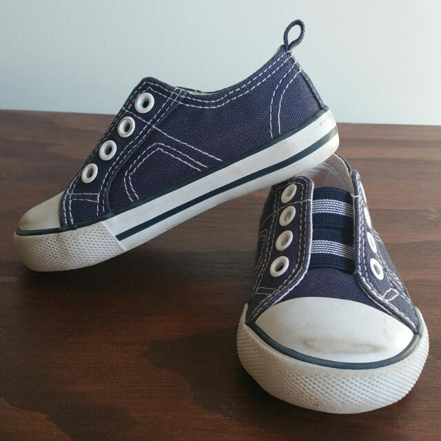 Toddler Sneaker/boy Shoes Navy Blue Size5
