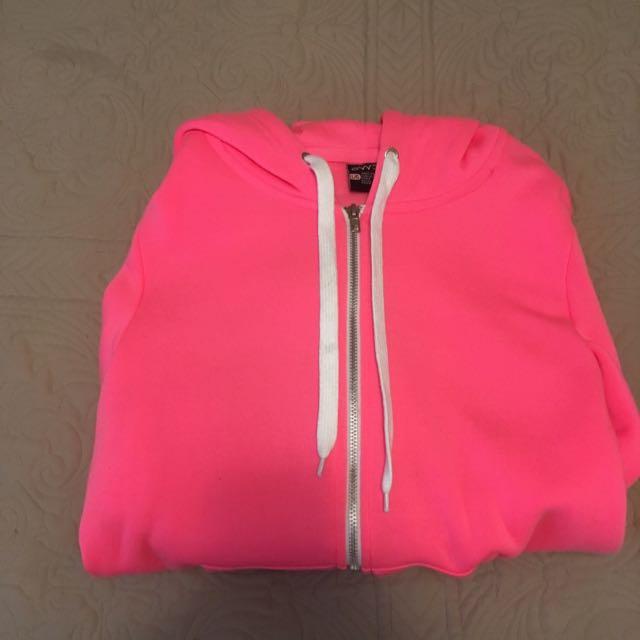 Urban Planet Pink Zip-Up Hoodie