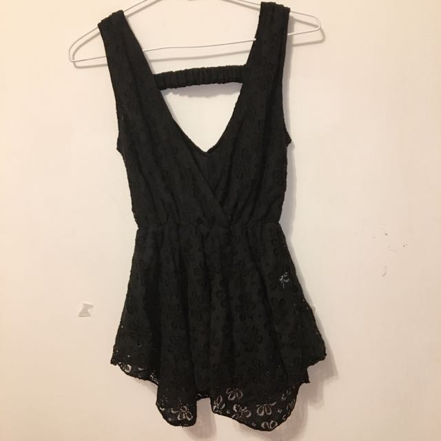 V領蕾絲洋裝