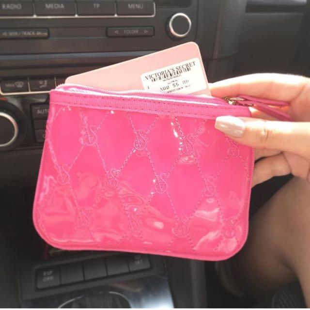 Victoria's Secret Hot Pink Coin Purse