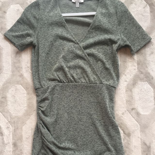 Women's Zara Dress Green Size Medium