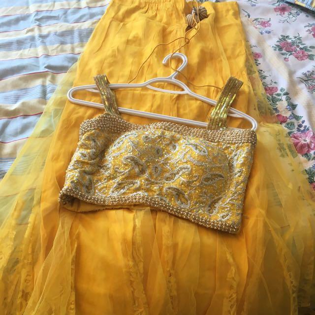 Yellow Indian Lengha
