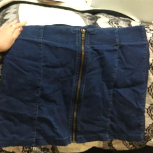 Zip Up Skirt