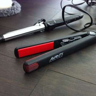 "1"" Flat Iron, 1"" Curling Iron"