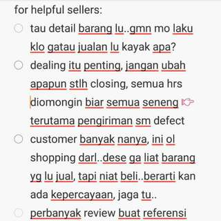 tips for helpful sellers