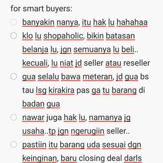 tips for smart buyers