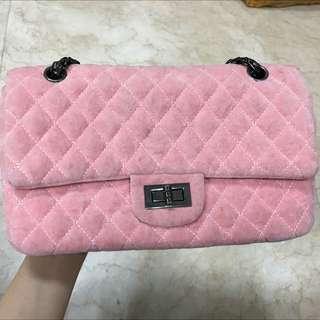 👉🏻粉色細毛手提包包