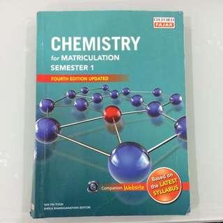 CHEMISTRY MATRICULATION