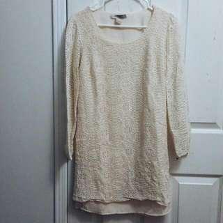 F21 Lace Overlay Sheath Dress
