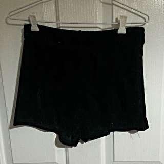 High Waisted Velvet Shorts