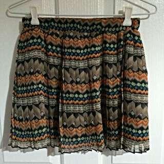 Geometric Pleated Skirt